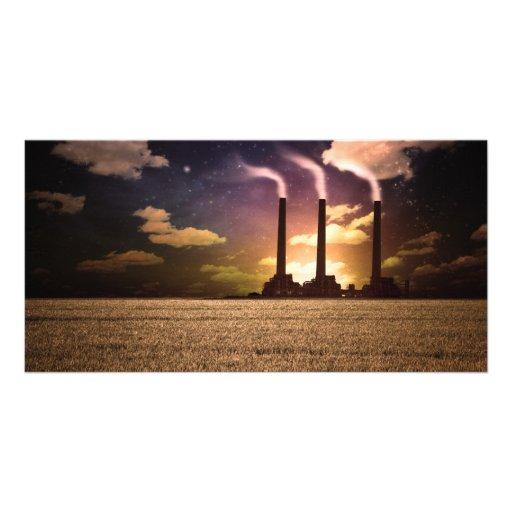 Factory Night Customized Photo Card