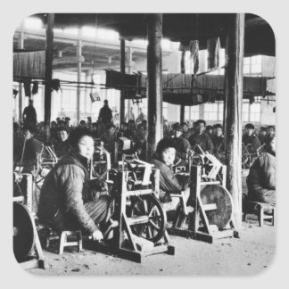 Factory run by Chinese near Chihsien, c.1930 (b/w Square Sticker