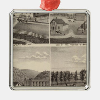 Factory, Stores and Residences, Minnesota Christmas Ornament