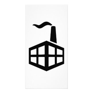 Factory symbol personalized photo card