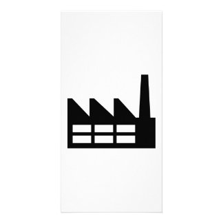 Factory symbol photo greeting card
