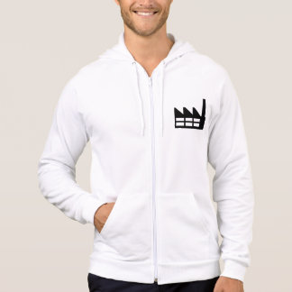 Factory symbol hooded pullovers