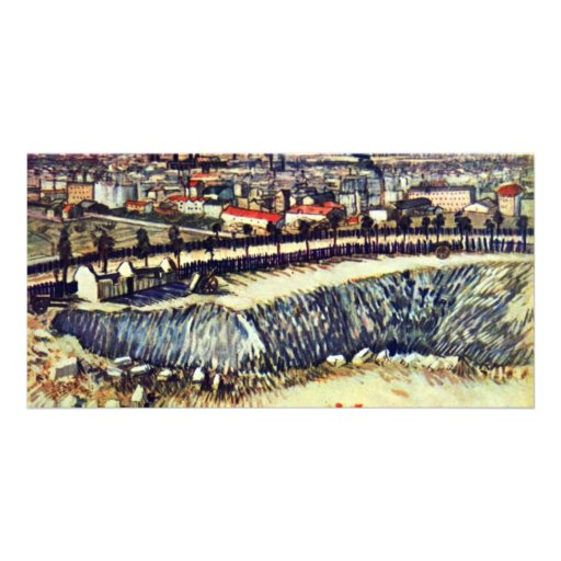 Factory Town By Vincent Van Gogh Picture Card