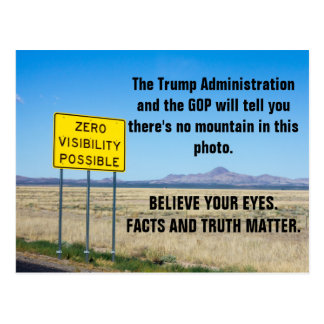 Facts and Truth Matter Resist Lies Postcard