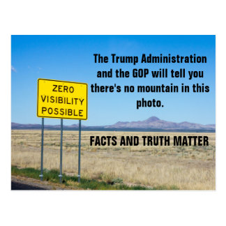 Facts and Truth Matter #Resist Postcard