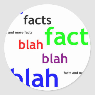 Facts boring facts classic round sticker