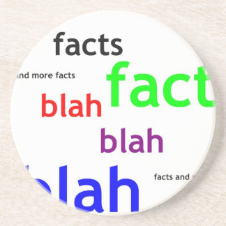 Facts boring facts coaster