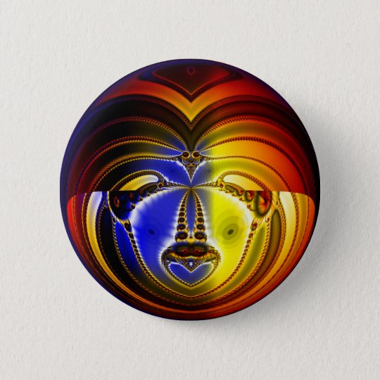 Factual Face 6 Cm Round Badge
