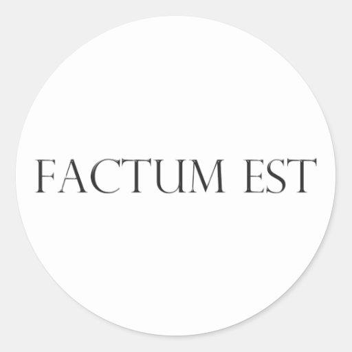 factum latin est latin round sticker
