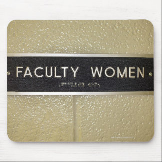 Faculty women sign mouse mat