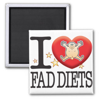 Fad Diets Love Man Square Magnet
