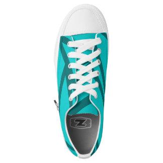 Fade Cyan Paint Splatter Skate Shoes