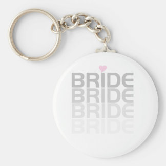Fade Gray Bride Tshirts and Gifts Keychain