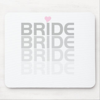 Fade Gray Bride Tshirts and Gifts Mouse Pad