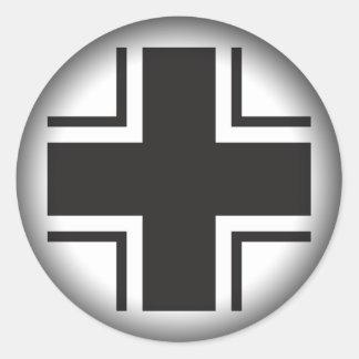 Fade to Black Round Stickers - Luftwaffe World War
