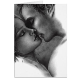 Fade to one Couple Love Greeting Card