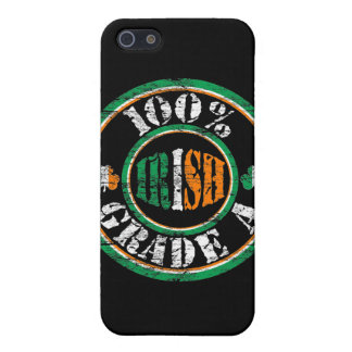 Faded '100% Grade A Irish' Stamp i Cover For iPhone 5/5S