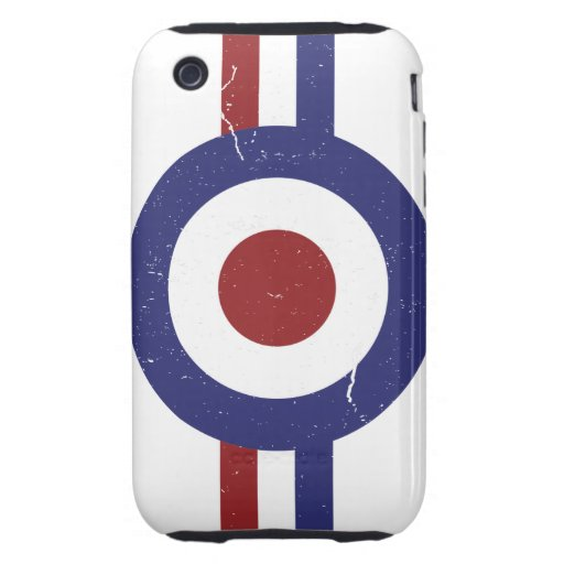 Faded and weathered Mod target Tough iPhone 3 Case