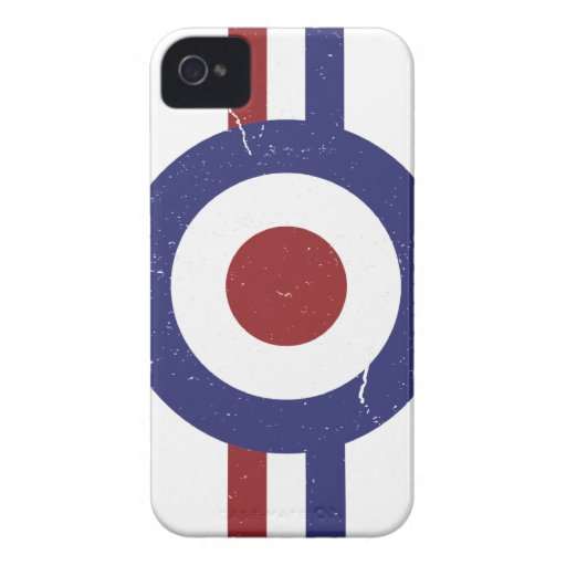 Faded and weathered Mod target Case-Mate iPhone 4 Case