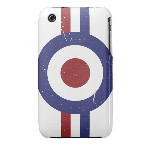 Faded and weathered Mod target iPhone 3 Covers