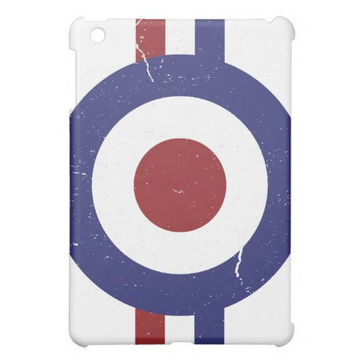 Faded and weathered Mod target iPad Mini Case