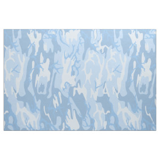 Faded Blue Camo Fabric