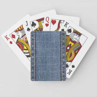 Faded Blue Denim (Vertical-A) Playing Cards