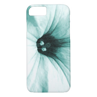 Faded blue flower macro picture iPhone 7 case