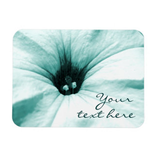 Faded blue flower macro picture rectangular magnet