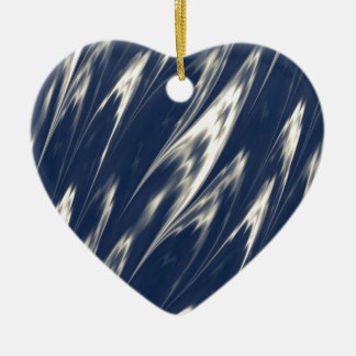 Faded Blue Marble Ceramic Heart Decoration