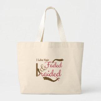 Faded & Braided Jumbo Tote Bag