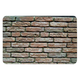 Faded brick texture rectangular magnets