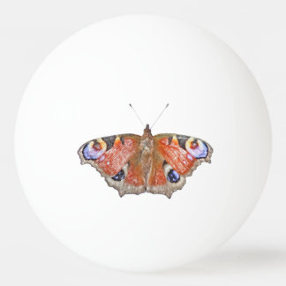 faded butterfly ping pong ball