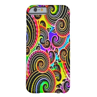 Faded Cosmic Rainbow Waves Art Barely There iPhone 6 Case