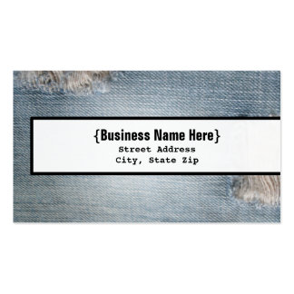Faded Denim Blue Jean Inspired Business Card