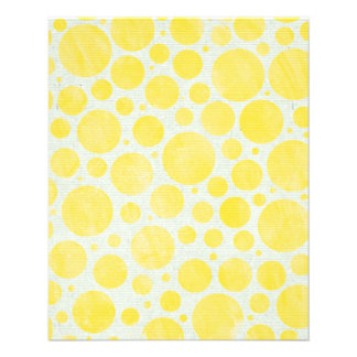 FADED DISTRESSED GRUNGE POLKADOTS  YELLOW WHITE  P FULL COLOR FLYER
