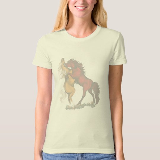 Faded Fighting Stallions T-Shirt