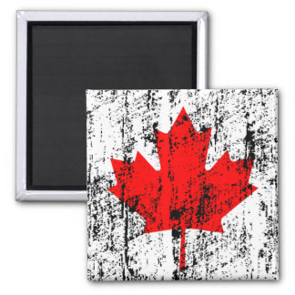 Faded Flag Of Canada Square Magnet