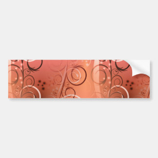 Faded Floral Swirl Coral Peach Gifts for Her Bumper Sticker