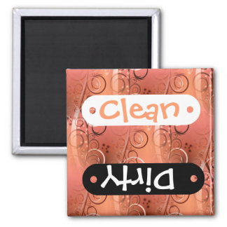 Faded Floral Swirl Coral Peach Gifts for Her Square Magnet