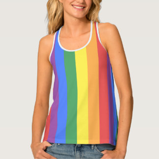 Faded Gay Pride Rainbow Flag LGBT All-Over Print Tank Top