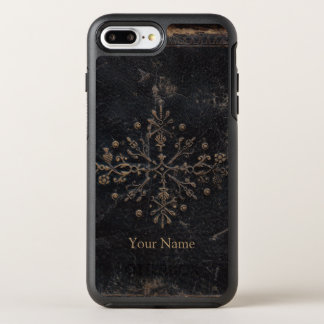 Faded Gold Leaf Ornate Add Your Name OtterBox Symmetry iPhone 8 Plus/7 Plus Case