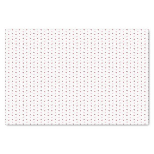 Faded Hearts Valentine's Tissue Paper