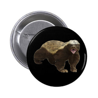 Faded Honey Badger Pinback Button
