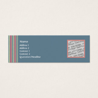 Faded Jeans Profile Card