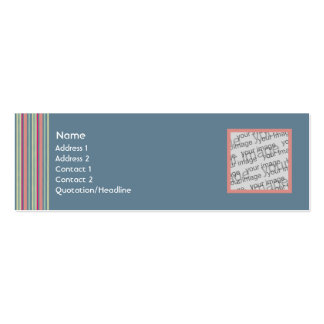 Faded Jeans Profile Card Business Cards