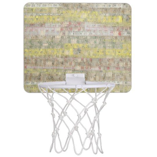 Faded Measuring Tape Background Mini Basketball Hoop