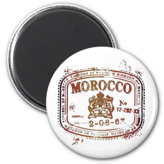 Faded Morocco Stamp 6 Cm Round Magnet