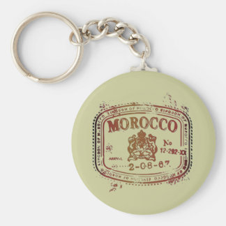 Faded Morocco Stamp Key Ring