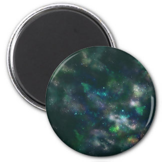 Faded Nebula Magnent 6 Cm Round Magnet